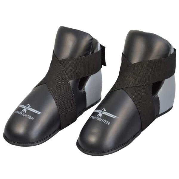 Fußschutz grau-schwarz, Zehentasche XXS